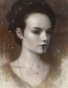 Great make-up inspiration: Black Opium by #TomBagshaw