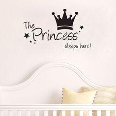 The Princess wall sticker Sleeps Here wall art decals living room decorative…