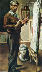 autoportrait dans le studio - (Giorgio De Chirico)