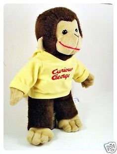 Curious-George-Monkey-Plush-Toy-Doll-Yellow-Shirt-Cap-Rabbit-Ears-14