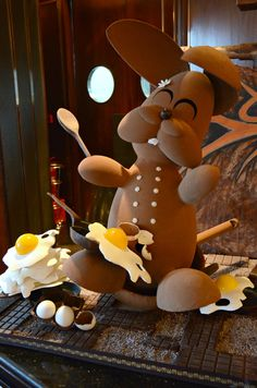 Easter Rabbit @Martha Povich Lounge Easter Chocolate Enchantment Buffet LOVE IT!