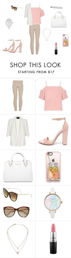 """""""#37 wome classic . Contest Nude"""" by ndreamcatcher on Polyvore featuring mode, The Row, T By Alexander Wang, River Island, Steve Madden, Michael Kors, Casetify, Gucci et MAC Cosmetics"""