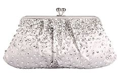 Grace Angel Womens Sequin Beading Satin Fabric Party Bag Evening Clutch Handbag GALU4046B * Want additional info? Click on the image.
