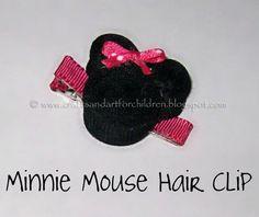 Handmade Minnie Mouse Hair Clip - DIY
