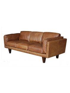 Tellah 90 Sofa-Oxford Tan