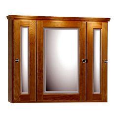 Medicine Cabinets - 30-Inch Rounded Profile Tri-View Medicine Cabinet By Strasser Woodenworks | KitchenSource.com