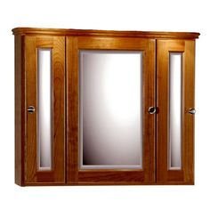 Medicine Cabinets - 30-Inch Rounded Profile Tri-View Medicine Cabinet By Strasser Woodenworks   KitchenSource.com