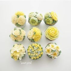 buttercream pale yellow flower cake