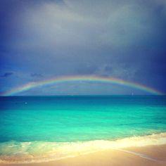 Turks and Caicos Rainbow Beautiful Islands, Beautiful Places, Amazing Places, Amazing Destinations, Travel Destinations, Turks And Caicos Wedding, Grace Bay Beach, Dreams Do Come True, Dream Vacations