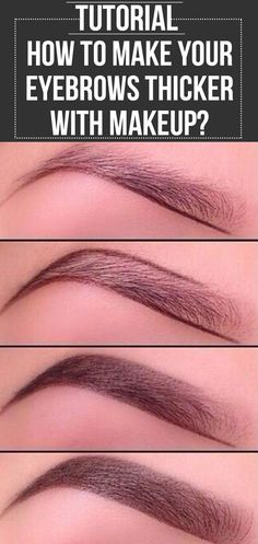 Eyes influence the way we look & grooming them a little enhances the looks. Here is a tutorial on how to make eyebrows thicker with makeup. #eyemakeup