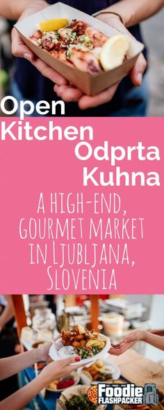 I Love Food, Good Food, Slovenian Food, Herbed Potatoes, Street Food Market, Open Kitchen, Lunches And Dinners, Food Preparation, Gourmet Recipes