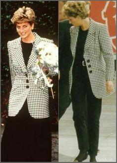 Princess Diana Fashion, Princess Diana Family, Princes Diana, Princess Of Wales, Spencer Family, Recycled Fashion, Black Trousers, Lady Diana, Style Icons