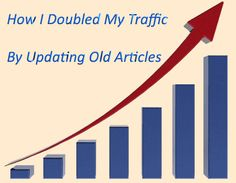 How I Doubled my Traffic by Regularly Updating the Old Articles