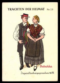 batschka 17th Century, Fiber Art, Germany, Culture, Costumes, Traditional, History, Serbian, Cards