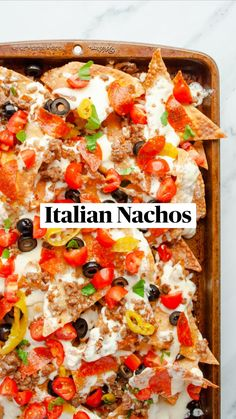 Popular Appetizers, Finger Food Appetizers, Appetizer Recipes, Snack Recipes, Cooking Recipes, Italian Recipes, Mexican Food Recipes, Italian Dinners, Italian Nachos