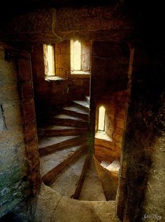 silverbat: A Spiral Staircase in Linlithgow Palace Inside the palace in Linlithgow, Scotland Julie King's Photography.