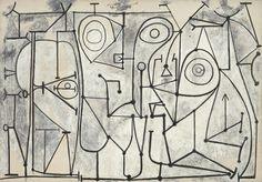 Pablo Picasso, The Kitchen (La cuisine), Grands-Augustins, Paris, November 9, 1948. Oil on canvas, 175.3 x 250 cm. The Museum of Modern Art, New York