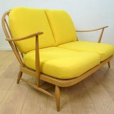Buy Retro Ercol two seater sofa from Mark Parrish Mid Century Modern Furniture, Midcentury Design. Ercol Sofa, Ercol Furniture, Zweisitzer Sofa, Kitchen Furniture, Mid Century Modern Armchair, Mid Century Modern Furniture, 1960s Interior Design, Retro Living Rooms, Chairs