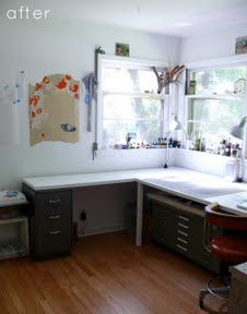 Clean, organized art studio check out the before, amazing and only cost 500 to do