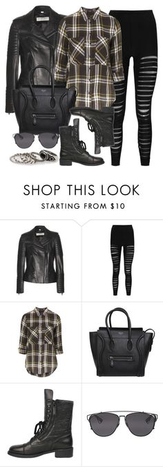 """Style #9386"" by vany-alvarado ❤ liked on Polyvore featuring Burberry, Boohoo, Topshop, CÉLINE, Chanel, Christian Dior and MANGO"