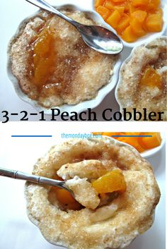 3-2-1 Peach Cobbler-