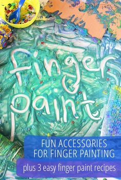 Fun accessories to add to finger painting - plus three easy finger paint recipes.---I love finger painting and I'm Painting Activities, Art Activities For Kids, Sensory Activities, Toddler Preschool, Toddler Activities, Learning Activities, Preschool Activities, Sensory Play, Painting For Kids