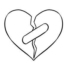 How to Draw a Broken Heart - Really Easy Drawing Tutorial