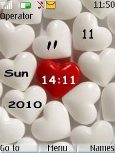 Download Hearts Love Clock S40 Theme 40021 from Free Nokia Themes. Compatible Mobile Devices For Hearts Love Clock S40 Mobile Themes 2700 classic,2720 Fold ,2730 Classic ,3600 Slide ,3600 Slide ,3610 Fold ,3720 Classic ,50 240x320, 2700 classic, 2720 Fold, 2730 Classic, 3600 slide, 3610 Fold, 3720 Classic, 5000, 5130 Xpress Music, 5132 XpressMusic, 5220 Xpress Music, 5300, 5310Xpress Music, 5330 Xpress Music, 5610 Xpress Music, 6300, 6300i, 6301, 6303, 6303i, 6500, android theme, Asha ...