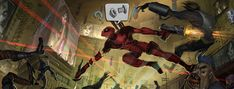 Deadpool(Video Game) Concept Art Paintings by Jose Emroca Flores