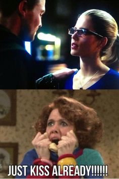 """This is me all the a time when I watch the show. In my head I just keep screaming """"KISS KISS KISS! """""""