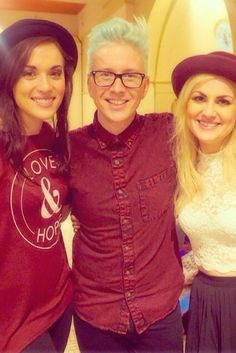 Tyler oakley with Rose and Rosie