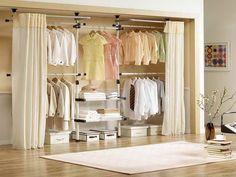 Alternative To Closet Door Ideas, Replace Sliding Closet Doors With  Curtains, How To Hang