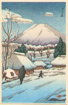 Ishiwata Koitsu Woodblock Print - Fuji In Winter