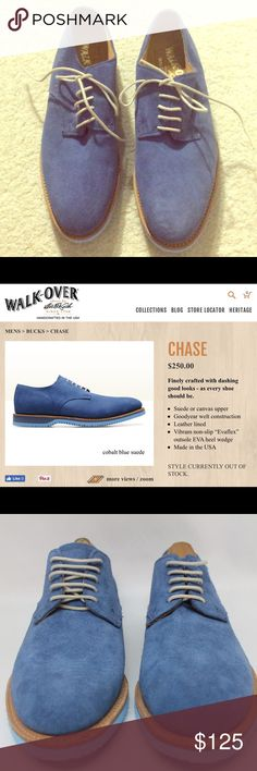 Walk Over Chase Cobalt Blue Suede Oxfords Size 7 New condition. Retail for $250. Shoes Oxfords & Derbys