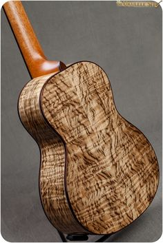 Tiger myrtle body on a custom Koolau tenor from Hawaii Music Supply. Guitar Art, Music Guitar, Cool Guitar, Custom Acoustic Guitars, Custom Guitars, Bass Saxophone, Unique Guitars, Ukulele Songs, Cigar Box Guitar