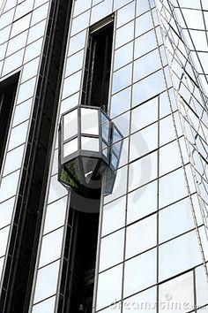 exterior glass elevators - eek but cool