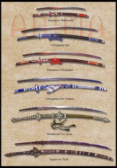 Anima: Katana set 1 by `Wen-M on deviantART