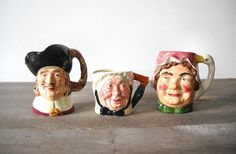 3 Toby Jugs Character Mugs Sarah Gamp & by MomsantiquesNthings, $40.00