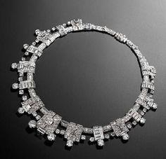 art deco diamond necklace, by Cartier, circa 1936