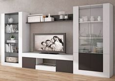 Best Home Cabinet Design Ideas For Comfy Family Room Living Room Wall Units, Living Room Tv Unit Designs, Living Room Decor, Tv Unit Furniture, Home Furniture, Furniture Design, Tv Wall Decor, Wall Tv, Tv Cabinet Design