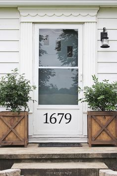 Farmhouse Front Doors | Exterior colors, Front stoop and The doors