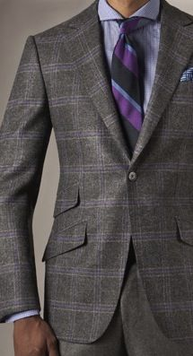 Andrea Campagna | Blue Plaid with Red Windowpane Sportcoat ...