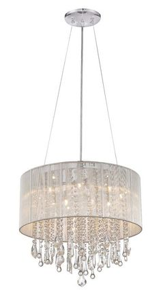 Features: -Shade material: Silk string and crystal. Crystal Chandelier Lighting, Iron Chandeliers, Candle Chandelier, Kitchen Pendant Lighting, Modern Lighting Design, Cool Lighting, Living Room Lighting, Bedroom Lighting, House Lighting