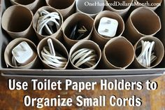 Easy Organization Tip: How to Tame a Cord Circus #Organization #DIY