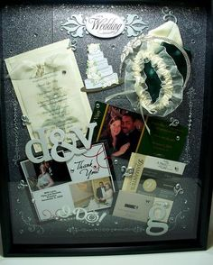 Wedding shadowbox...to do, one day!