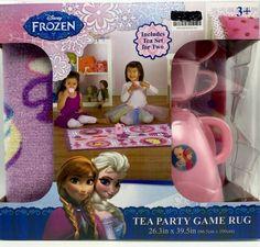 Disney Frozen Game Rug with Tea Set 26.3 x 39.5 inch New in box   #Disney