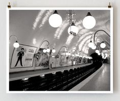 Paris Metro Cite Paris Photography French by TheParisPrintShop, $28.00