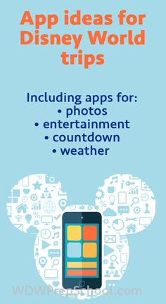 Apps that come in handy on Disney World trips - photo apps, weather, countdown + more