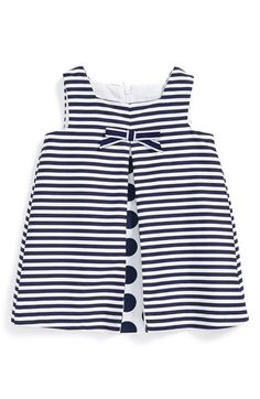 Luli & Me Stripe Sleeveless Dress (Baby Girls) available at #Nordstrom