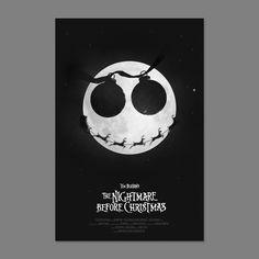 nightmare before christmas - minimalist movie poster by simon c page